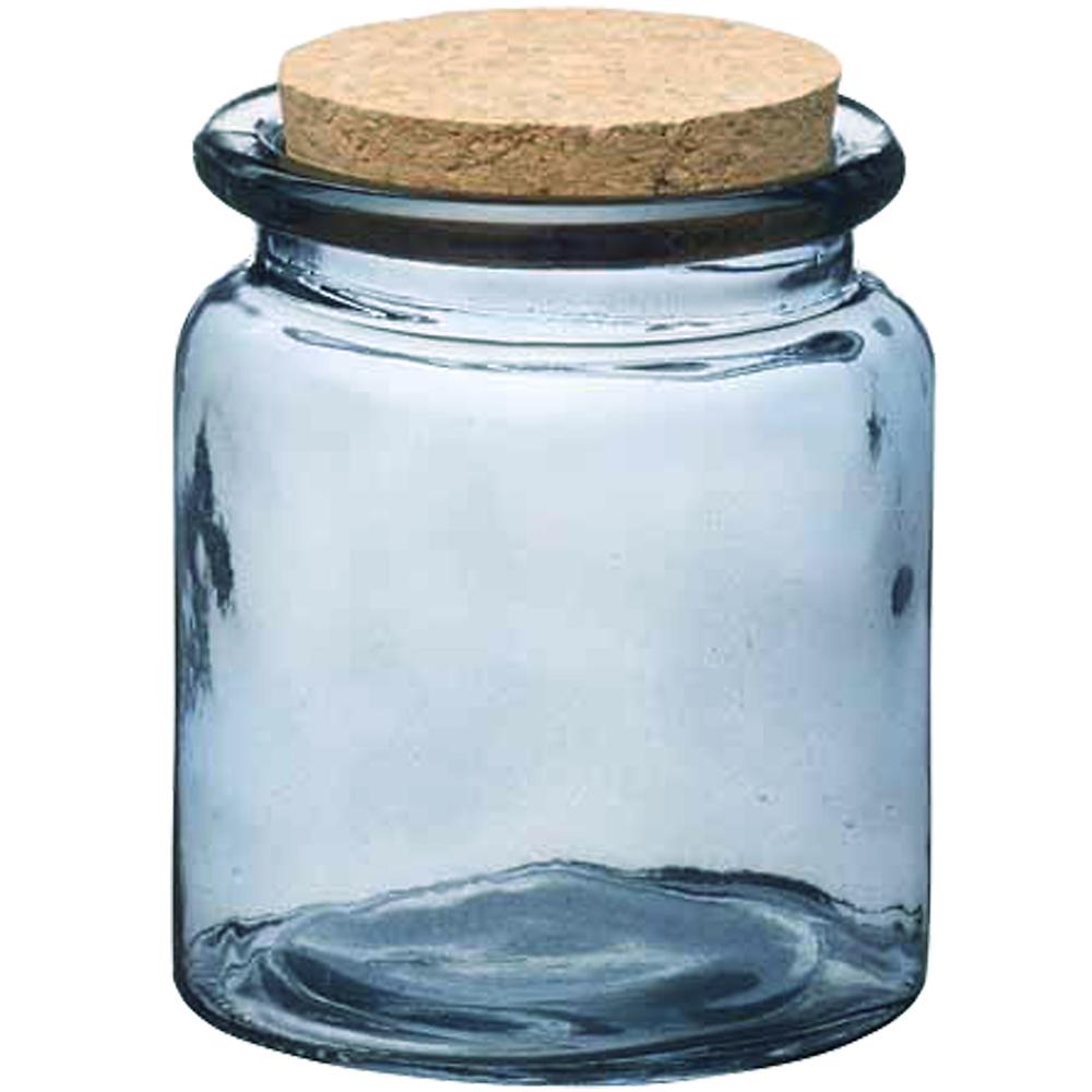 KitchenCraft 軟木蓋玻璃收納罐(透藍250ml)