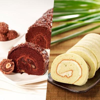 ★3Q烘焙★ 經典巧克力金沙捲*1+三星蔥捲*1 組合