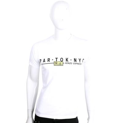 KENZO 白色字母排列設計棉質短袖T恤