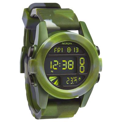 NIXON The UNIT 荒野之戰迷彩時尚叢林腕錶-綠/44mm