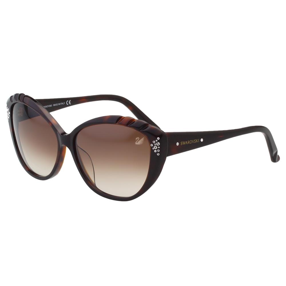 SWAROVSKI太陽眼鏡-貓眼水鑽-琥珀色-SW9056