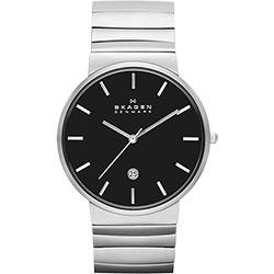 SKAGEN 經典系列 極簡時尚腕錶-黑x銀/40mm