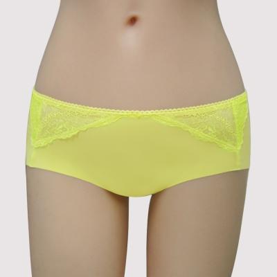 瑪登瑪朵-美透了Bra我挺妳-低腰平口無痕褲-粉彩黃