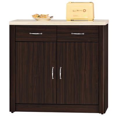 時尚屋 艾力森胡桃色2.7尺餐櫃