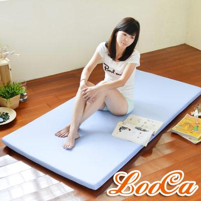 LooCa 高效防水5cm高磅透氣輕便式床墊-單人
