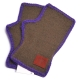 Vivienne Westwood 行星LOGO皮標造型滾邊露指羊毛手套(綠底) product thumbnail 1