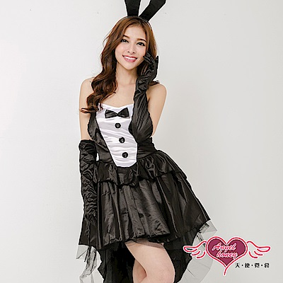 角色扮演 兔兔陷阱 性感兔女郎派對表演服(黑F) AngelHoney天使霓裳