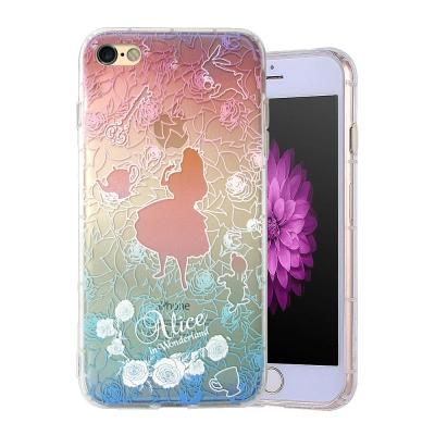 VXTRA彩繪童話 iPhone 8/iPhone 7 漸層浮雕空壓殼(薔薇愛麗...