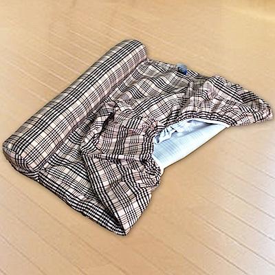 凱蕾絲帝-英倫單枕寵物獨立筒專用床包(大)-90*60*11CM-橘