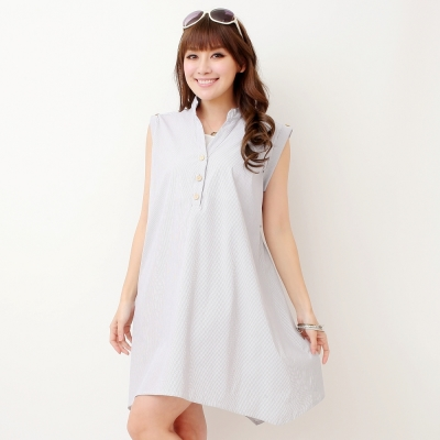 Keep-Chic孕婦裝-中國風旗袍領不規則洋裝-共二色