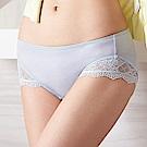 蕾黛絲-挺素面-輕真水版平口內褲 M-L(舒涼灰)