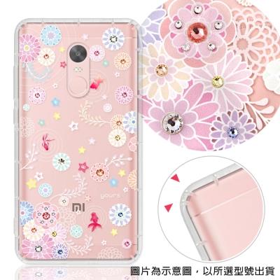 YOURS Xiaomi 小米 紅米系列 彩鑽防摔手機殼-彩荷金魚