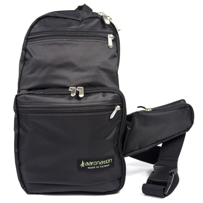 aaronation 愛倫國度 - 台灣製造輕量化單肩背包- AN-ET1717-黑
