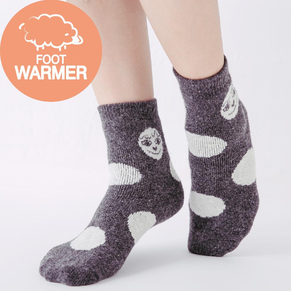 蒂巴蕾 厚絨毛圈襪-扮鬼臉