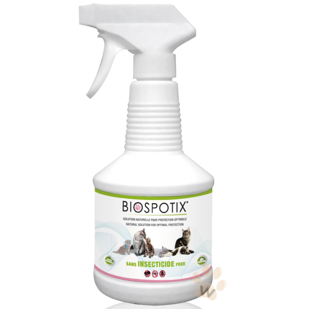 法國葛蘭絲Biospotix貓用驅蟲防蚤噴劑500ml 1入