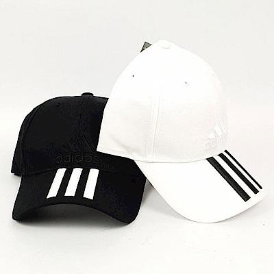 adidas 6P 3S CAP COTTO 運動帽 黑白款