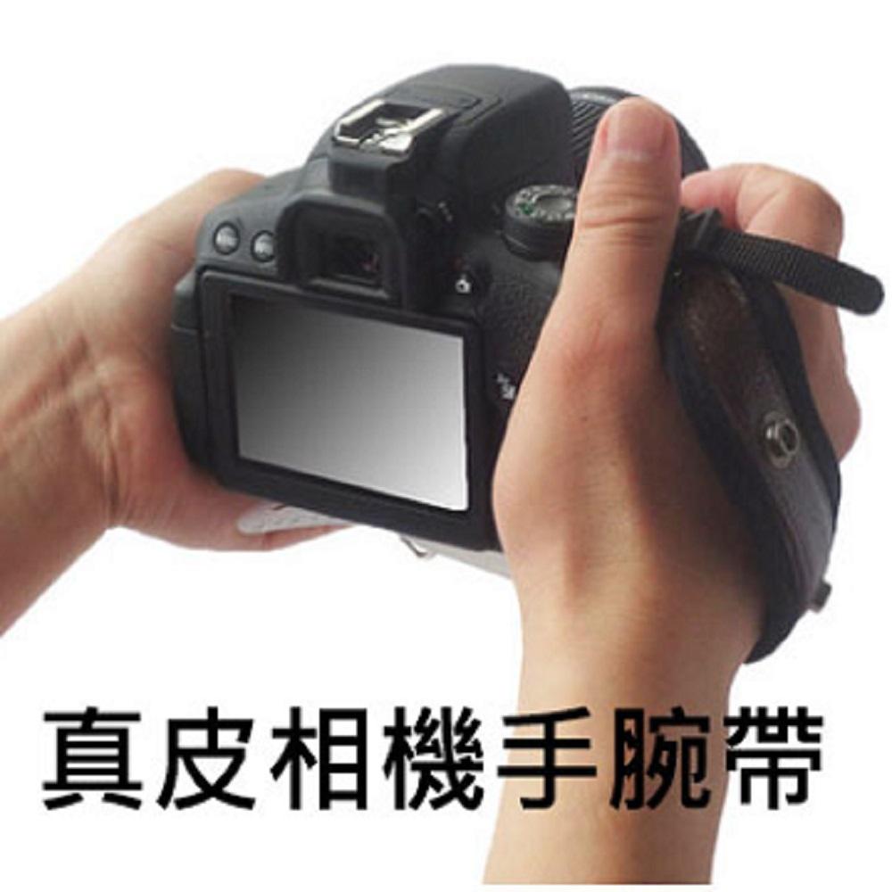 真皮防水相機腕帶數位單反相機攝影皆可用-紅色
