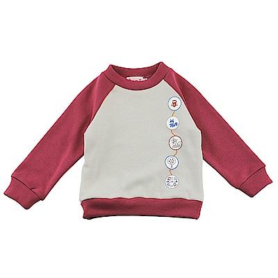 愛的世界 MYBABY 彈性運動風內刷毛長袖上衣/4~8歲