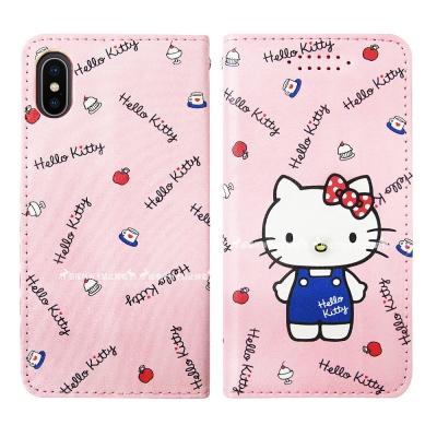 三麗鷗授權 Hello Kitty貓 iPhone X 隱形磁力皮套(點心)