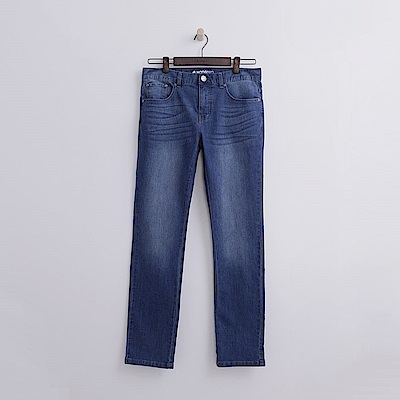 Hang-Ten-男裝-刷色修身牛仔褲-水藍