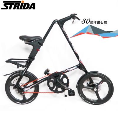 STRiDA 速立達 18吋SX 折疊單車(碟剎)30週年鑽石商標-平光黑