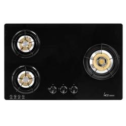 和成HCG 銅合金爐蓋琺瑯爐架強化玻璃檯面式三口瓦斯爐(GS333)