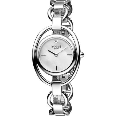 VOGUE Tornabuoni 馬銜鍊手鍊錶-天然珍珠貝x銀/30mm