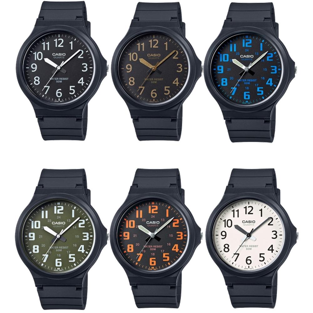 CASIO 超輕薄感實用必備大表面指針錶(MW-240)-多色任選-45mm