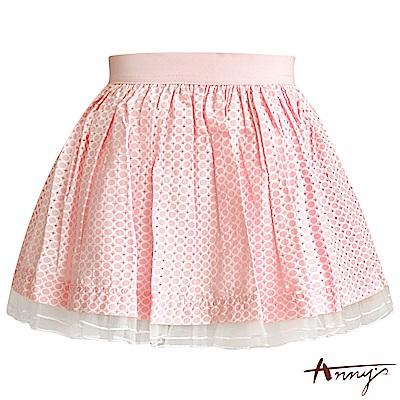 Annys繽紛可愛點點蓬蓬短裙*5186粉