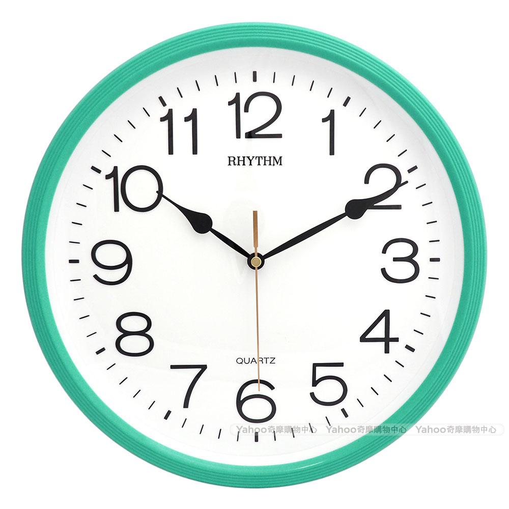RHYTHM麗聲 現代極簡超靜音掛鐘(青草綠)/31cm