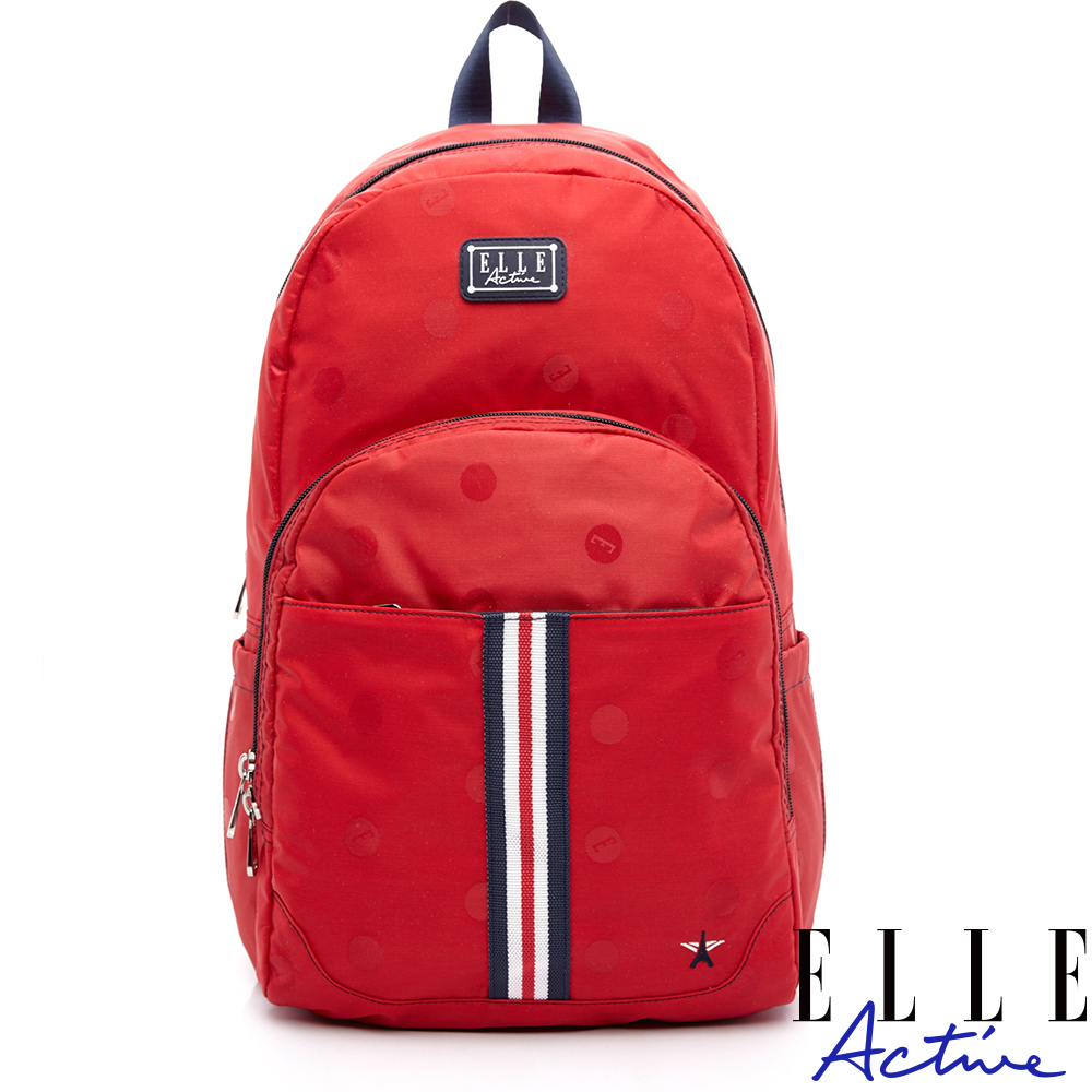 ELLE Active 經典復刻系列-後背包-大-紅色
