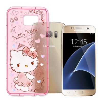 三麗鷗Hello Kitty貓 Samsung S7 夢幻氣泡空壓防震殼(KT小...
