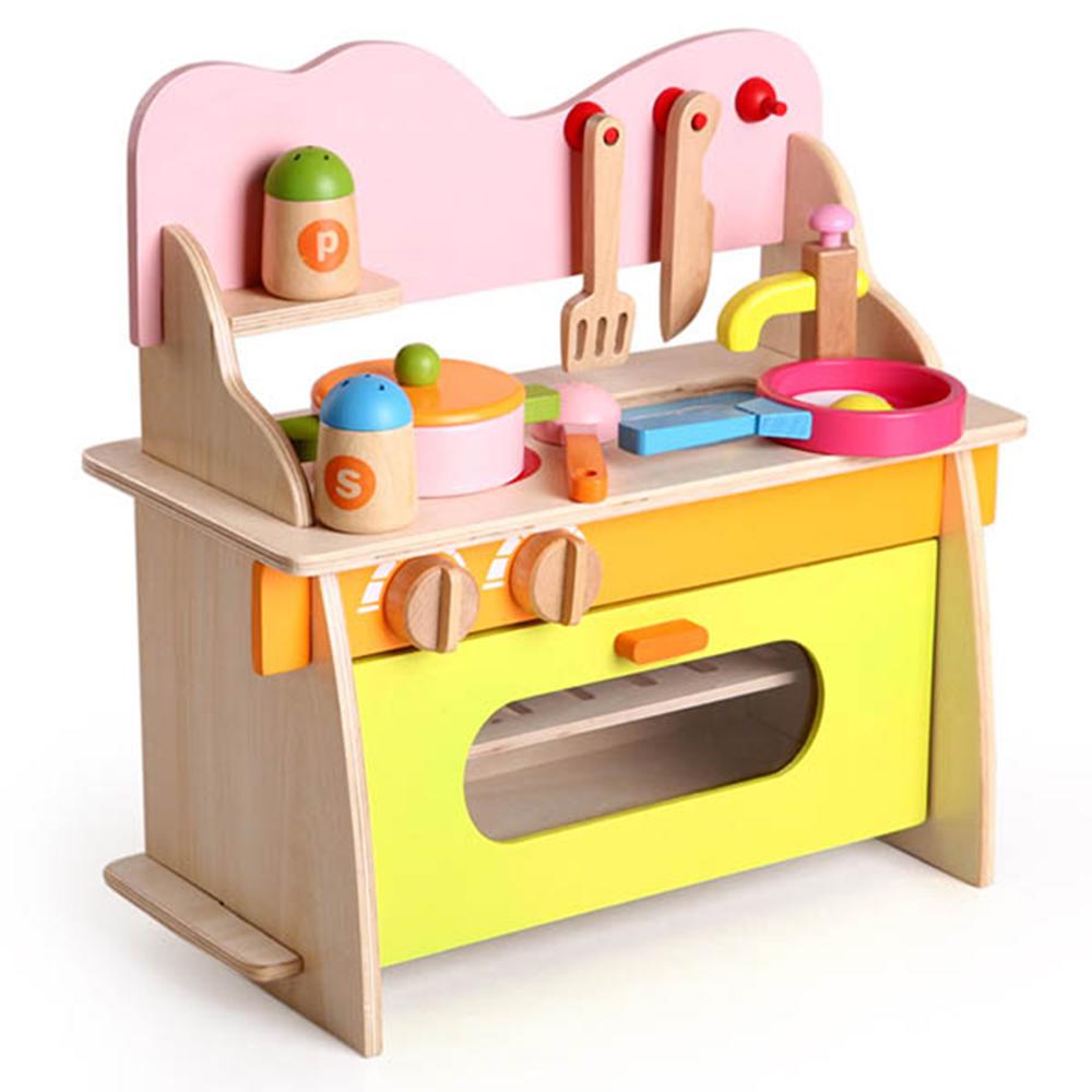 木頭玩具 木製仿真廚具台 13024(3Y+)