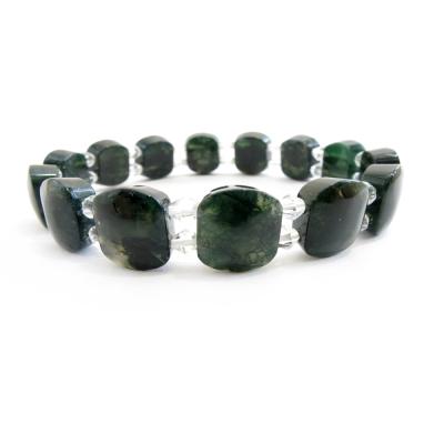 【Hera】優質綠茵水草玉髓板環
