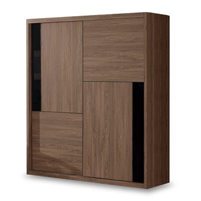 時尚屋 約克5尺拉門衣櫃 寬146x深60x高207cm