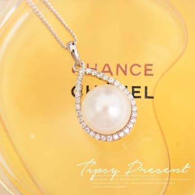 微醺禮物 鋯石 925銀鍍白金 珍愛一生 項鍊