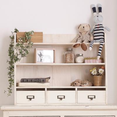 CiS自然行實木家具 三層置物-三抽-經典雜貨櫃M款-象牙白色