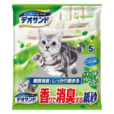 日本Unicharm消臭大師瞬間消臭紙砂-森林香5L