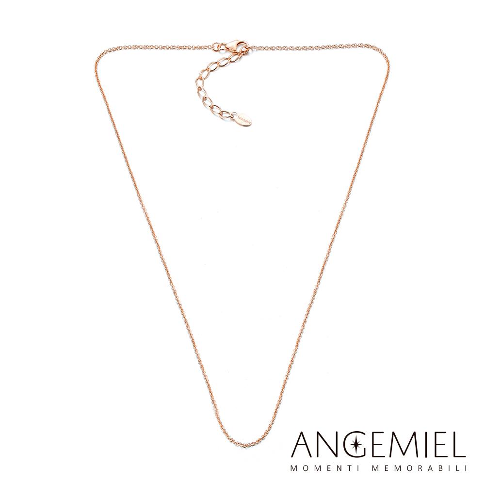 Angemiel安婕米 925純銀項鍊(玫瑰金)