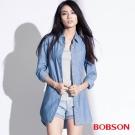 BOBSON  女款長版綁帶襯衫