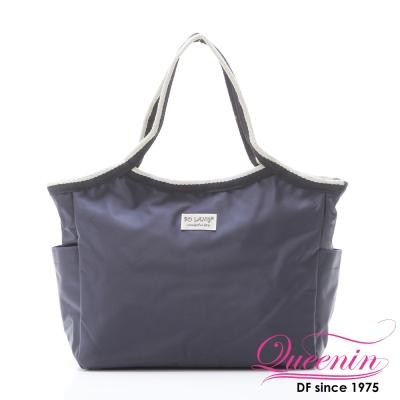 DF Queenin - 韓版百搭輕便式多用途手提包-深藍
