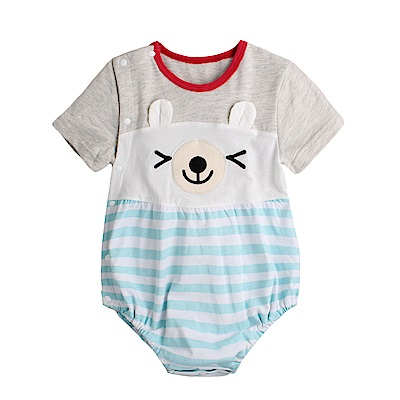 baby童衣 側開扣立體動物耳朵造型包屁衣  80072