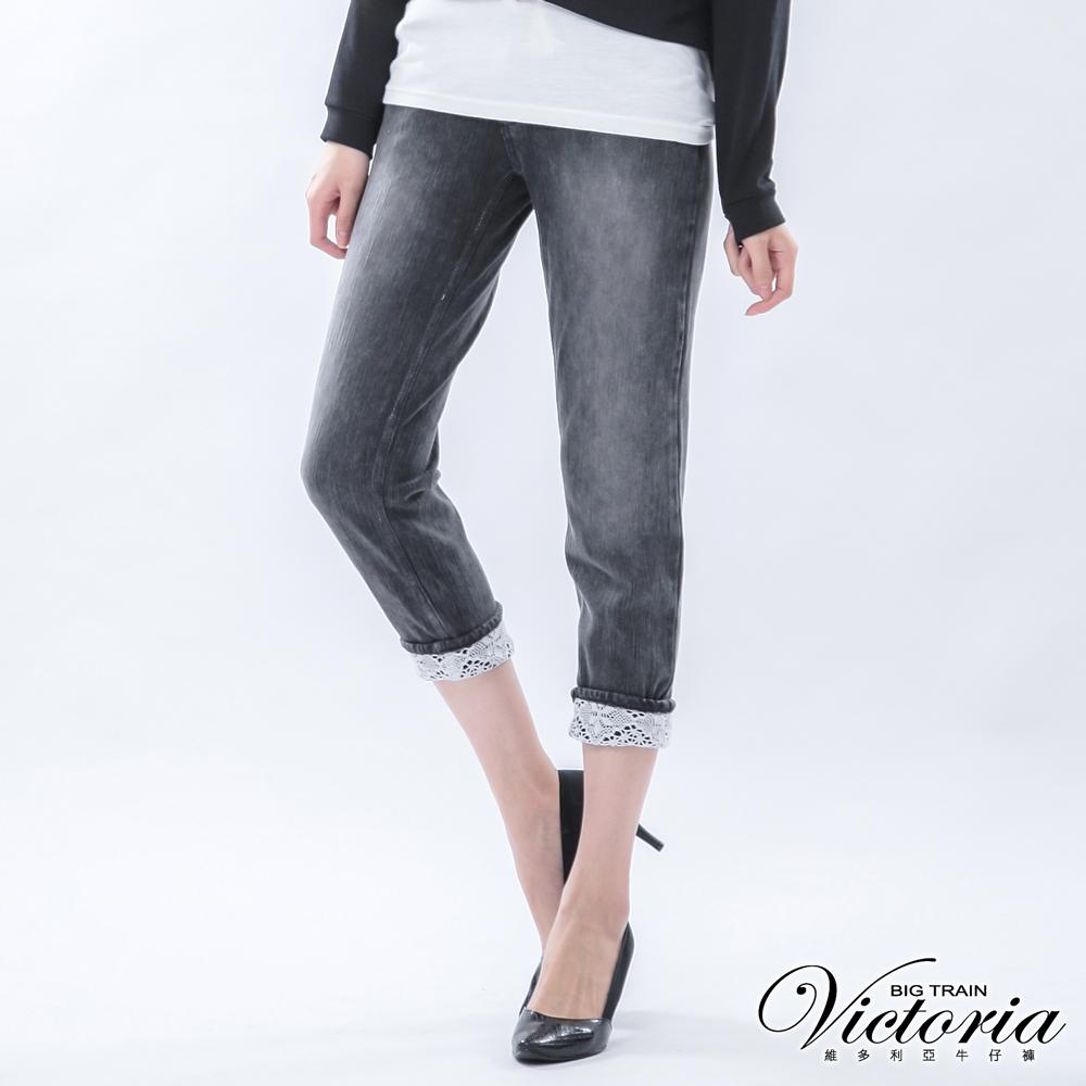 Victoria 男友八分褲-女-灰