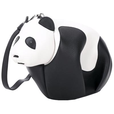 LOEWE Panda 熊貓造型迷你手拿/斜背包(黑白色)