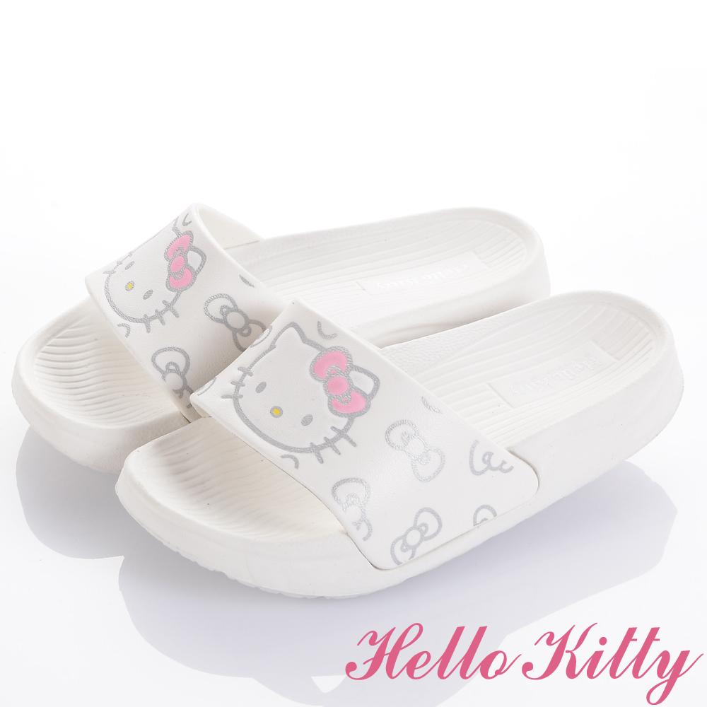 HelloKitty 輕量舒適減壓室內外拖鞋童鞋-白(中小童)