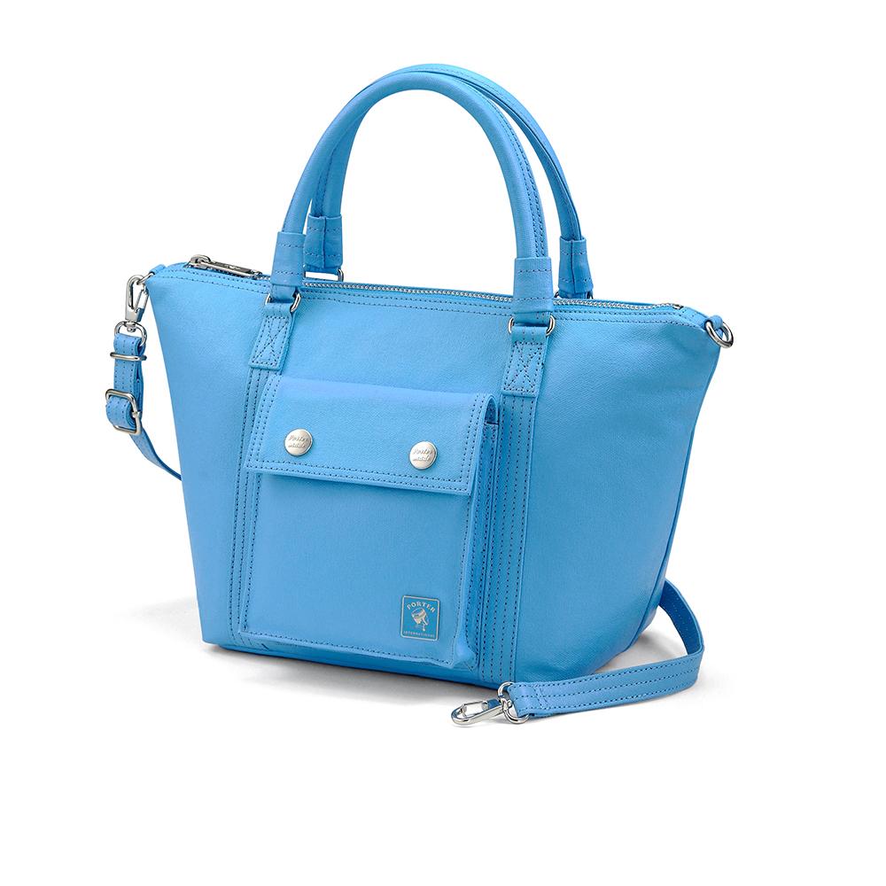 PORTER - 復刻新作MILKY+小型兩用托特包 - 清新藍