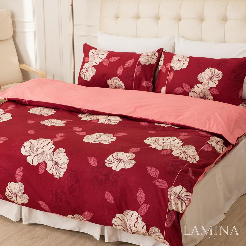 LAMINA  憂之戀-紅  單人三件式精梳棉床包被套組