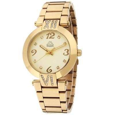 Kappa 低調奢華不鏽鋼時尚腕錶-金/40mm