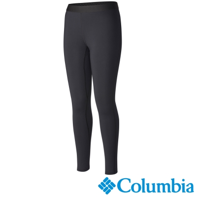 Columbia哥倫比亞 女款-快排保暖內搭長褲-黑色 UAL81270BK