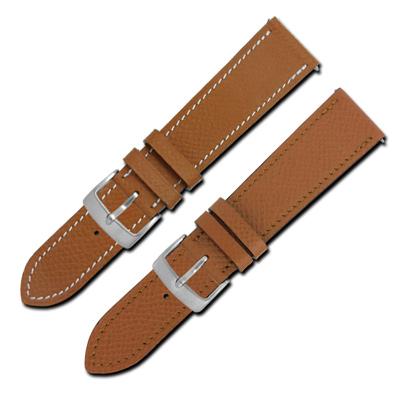 Watchband / HERMES 愛馬仕-法國進口柔軟替用真皮錶帶-棕色